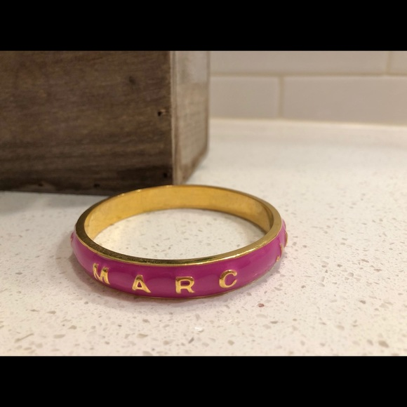 Marc by Marc Jacobs pink and gold bangle
